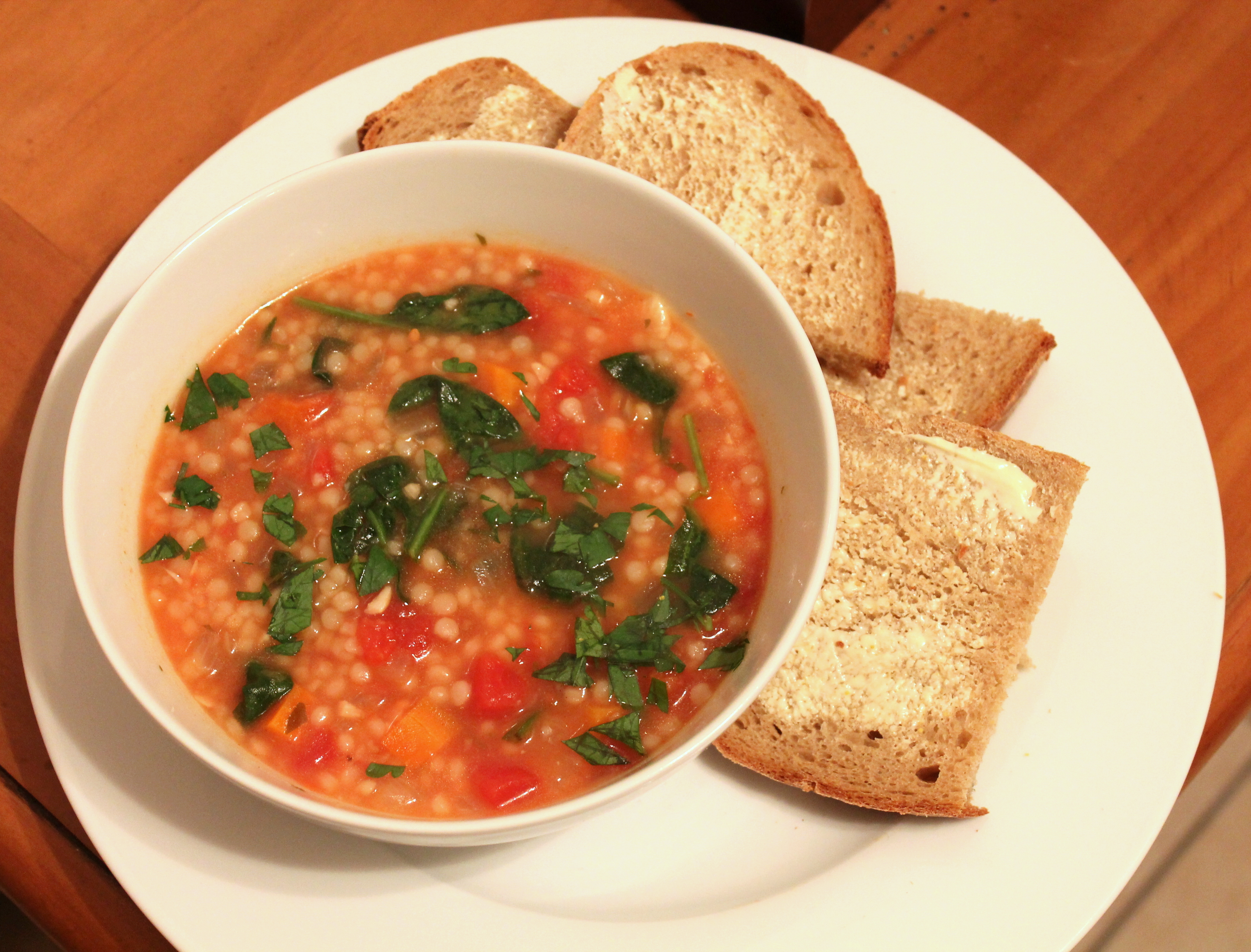 Tomato Soup with Israeli Couscous | The Kitchen is Calling