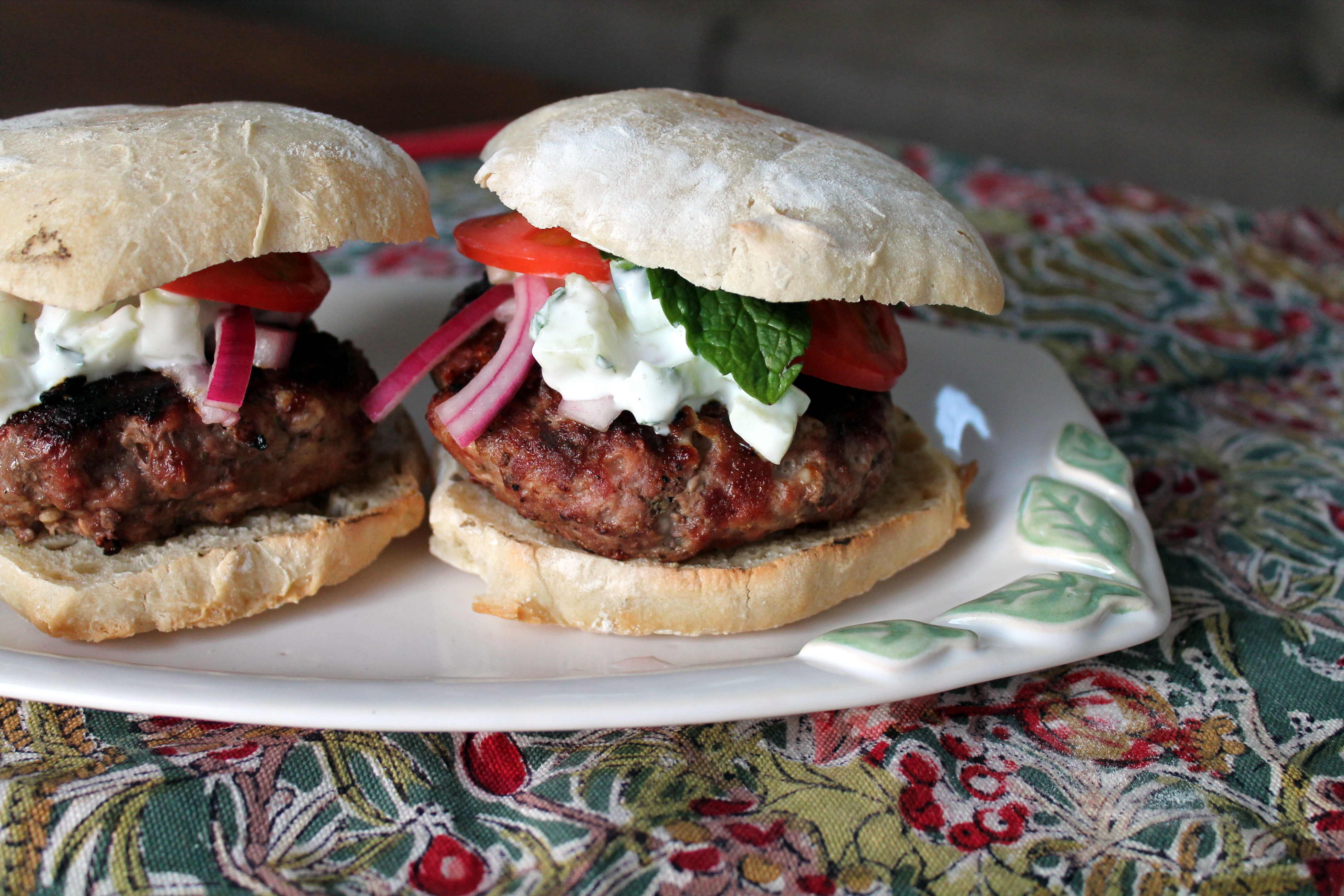 Greek Burgers with Homemade Tzatziki The Kitchen is Calling