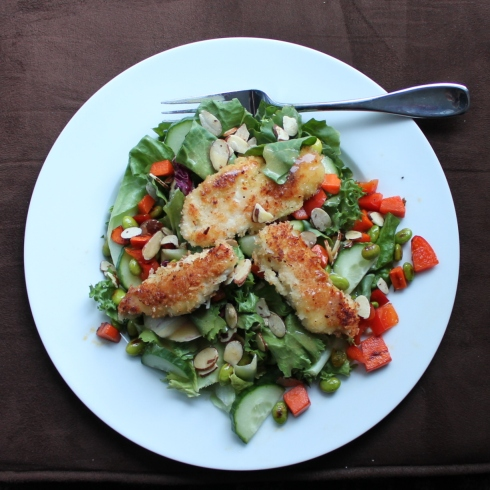Coconut-Crusted Chicken Salad
